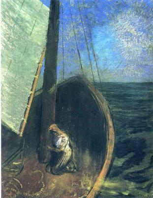 Odilon Redon. Boat