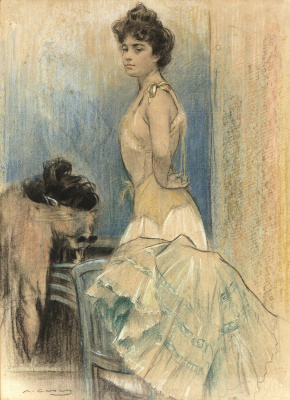 Ramon Casas i Carbó. Lady in the interior