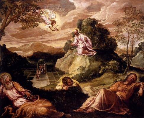 Jacopo (Robusti) Tintoretto. Prayer in the Garden of Gethsemane