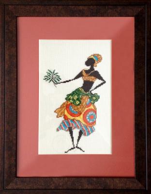 Tatyana Nikulina. Girl with a palm tree