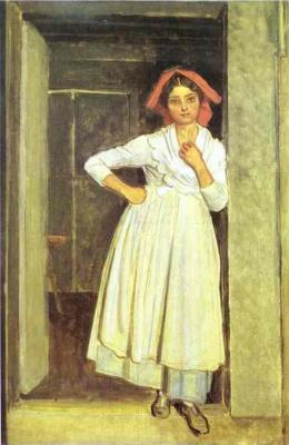 Александр Андреевич Иванов. Задумавшаяся женщина на пороге