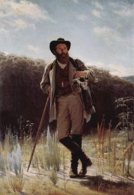 Ivan Nikolayevich Kramskoy. Portrait of the artist Ivan Shishkin