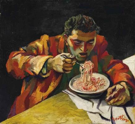 Renato Guttuso. Spaghetti