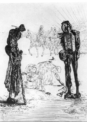 "Salvador Dali. Illustration for ""Songs Maldoror"""