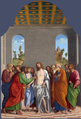 Giovanni Battista Cima da Conegliano. The Unbelief Of St. Thomas
