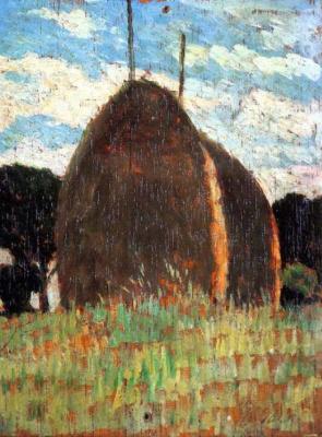 Giovanni Fattori. Haystacks