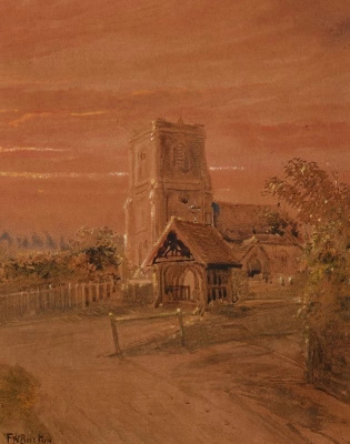 Frederick William Burton. Village Church
