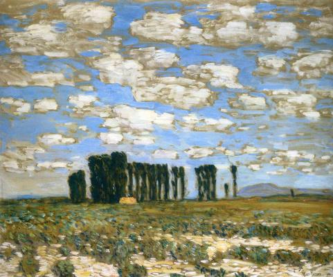 Childe Hassam. Harney, desert landscape