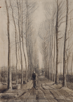Vincent van Gogh. Street with poplars