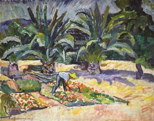 Petr Petrovich Konchalovsky. San Maxim. Palm trees