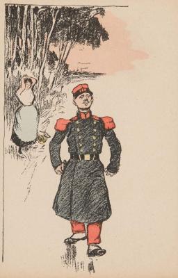 Theophile-Alexander Steinlen. Smug soldier