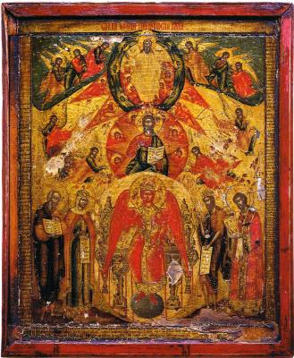 Icon Painting. Sophia the Wisdom of God. Folding fold. (Nevyansk)