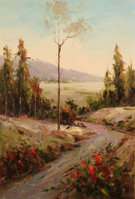 Andrey Sharabarin. At a lonely aspen