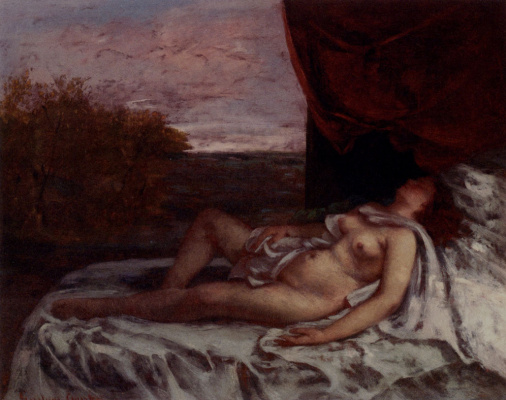 Gustave Courbet. Nude woman
