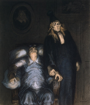 Honore Daumier. The imaginary invalid