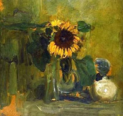 Piet Mondrian. Still life with sunflowers