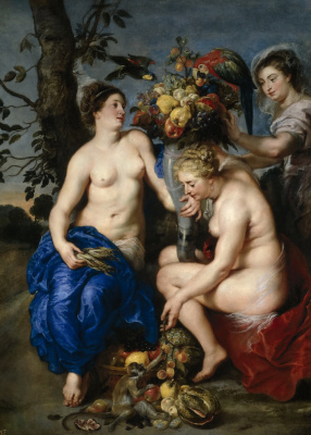 Peter Paul Rubens and France Snyders. Ceres and two nymphs