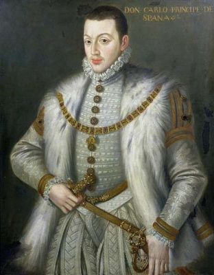 Sofonisba Angisola. Portrait of Don Carlos, son of Philip II of Spain