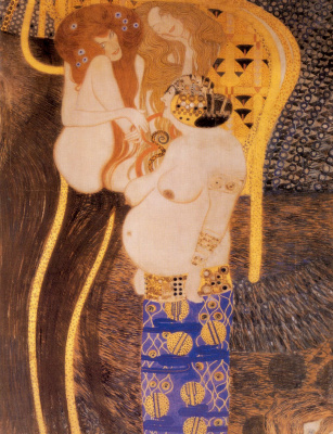 Gustav Klimt. Beethoven Frieze. The hostile forces (detail)