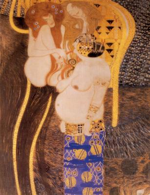 Gustav Klimt. Beethoven Frieze. The hostile forces (detail)