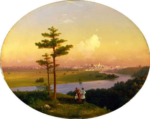 Ivan Aivazovsky. View on Moscow from Sparrow hills
