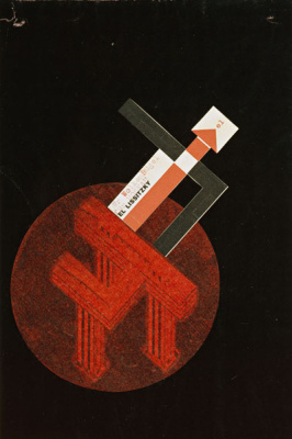 El Lissitzky. A skyscraper on the area of Nikitsky gate. General view from above. Proun on the topic of the project