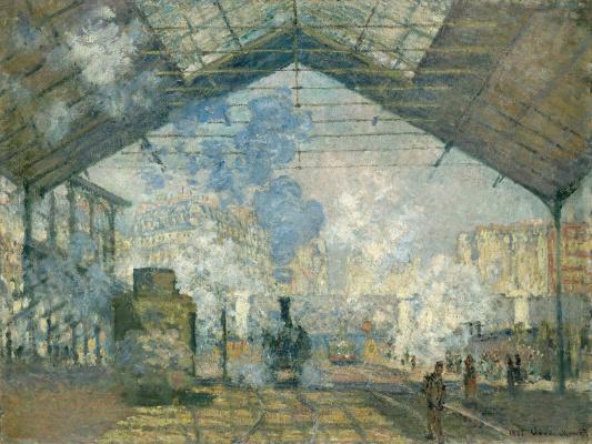 Claude Monet. The Gare Saint-Lazare