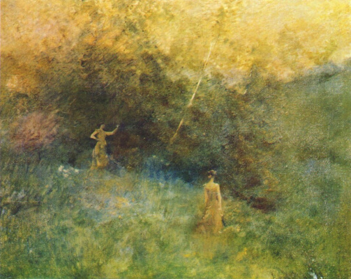 Thomas Wilmer Dewing. White birch