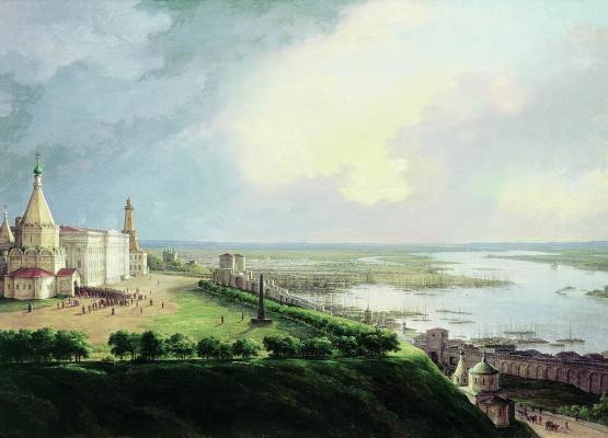 Nikanor Grigorievich Chernetsov. View Of Nizhny Novgorod. 1837