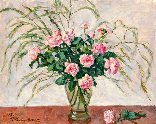 Petr Petrovich Konchalovsky. Roses and asparagus
