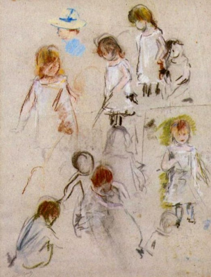 Berthe Morisot. The outline of a little girl