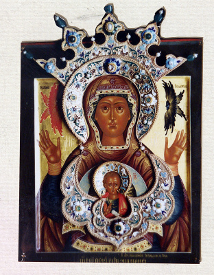 Moscow Icon Painting Workshop. The icon of the mother of God of the Sign