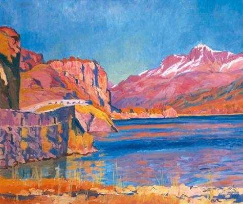 Giovanni Giacometti. Lake of Sils, Corvatsch, Switzerland