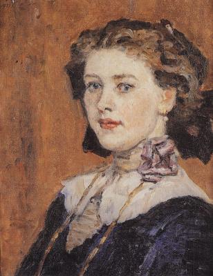 Vasily Ivanovich Surikov. Portrait of a young woman