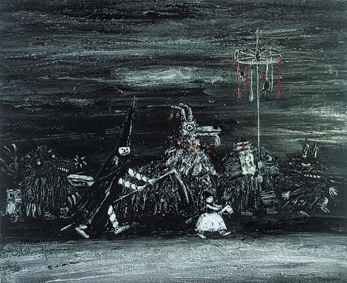 "Анатолий Петрович Смышляев. Sketch for the animated film ""Haiduk"""