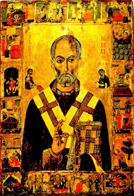 Icon Painting. St. Nicholas