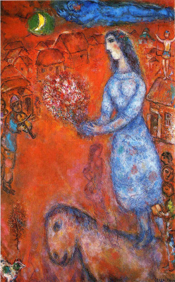 Marc Chagall. Bride with bouquet