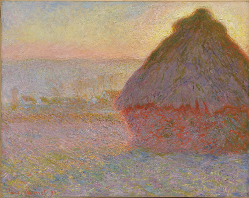 Claude Monet. Grainstack (Sunset)