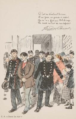 Theophile-Alexander Steinlen. Conduct arrest