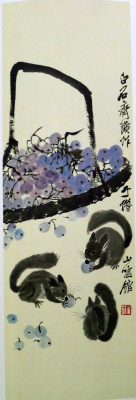 Qi Baishi. Squirrels and nuts