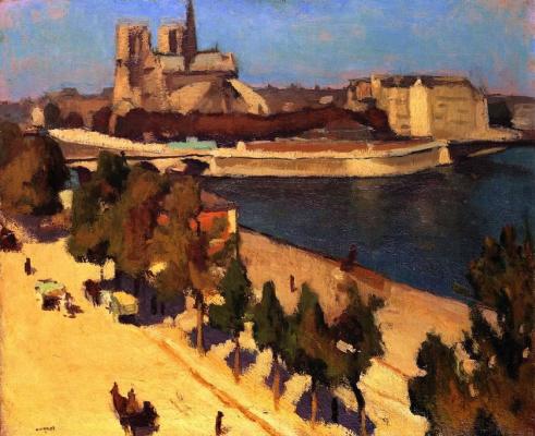 Albert Marquet. The apse of Notre Dame de Paris