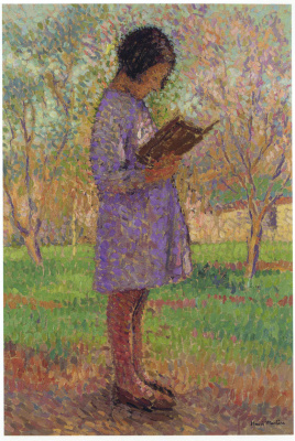 Henri Martin. Reading young girl