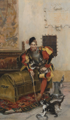 Francois Flameng. Playing cavalier.