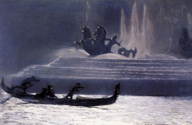 Winslow Homer. Night fountains. World show in Columbia