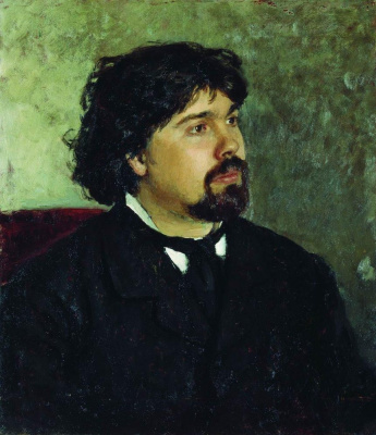 Ilya Efimovich Repin. Portrait of the artist V. I. Surikov
