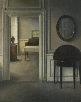 Vilhelm Hammershøi. Interior with a mirror