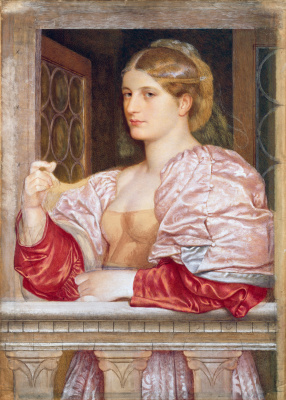 Frederick William Burton. Venetian courtesan