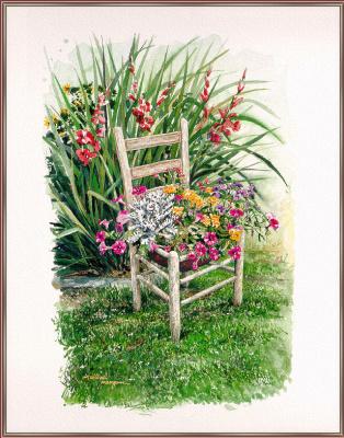 Уильям Мангам. Стул в саду