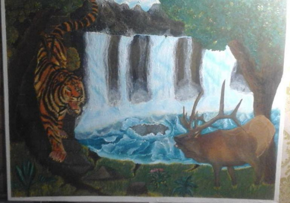 Victor Vladimirovich Weaver. Waterfall