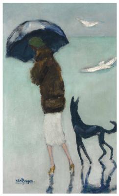 Kees Van Dongen. Cannes, la femme au chien